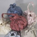 silk bag for flower girl and bridesmaids by UK designer Nicki Macfarlane