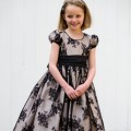 Chloe Black Lace , beautiful flower girl or bridesmaid dress, UK, Nicki Macfarlane