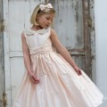 jessica pink silk flower girl and bridesmaid dress pink UK Nicki Macfarlane