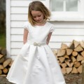 Ruth ivory flower girl, Communion dress by UK designer Nicki Macfarlane