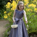 Claudette flower girl & bridesmaid dresses, purple, lilac flower girl dress by UK designer Nicki Macfarlane