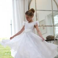 Lace Communion dresses, UK, NIcki Macfarlane, British designer