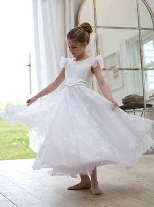 Lace Communion dresses, UK, NIcki Macfarlane, British designer