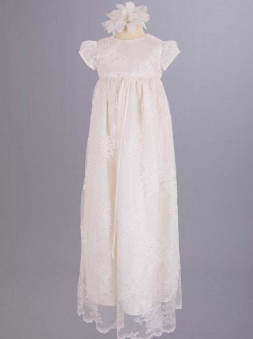 Lace Christening Dresses and Robes from UK Designer Nicki Macfarlane