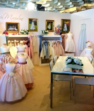 Nicki Macfarlane stand at Pitti Bimbo, flower girl, Eid, Bat Mitzvah & Communion dresses.