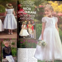 nicki macfarlane flower girl and bridesmaid dresses and pageboy outfits featured in Hello Magazine Wedding Special, UK