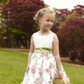 Imogen, Floral print bridesmaid or flower girl dresses by UK designer Nicki macfarlane