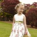 Imogen, Floral print bridesmaid or flower girl dresses by UK designer Nicki macfarlane