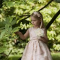 Eleanor pink flower girl or bridesmaid dresses by UK designer Nicki Macfarlane