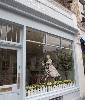 The Nicki Macfarlane boutique for flower girl, page boy, Communion dresses and occasion wear