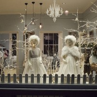 Nicki Macfarlane Boutique Winter shop window, flower girls and bridesmaids UK